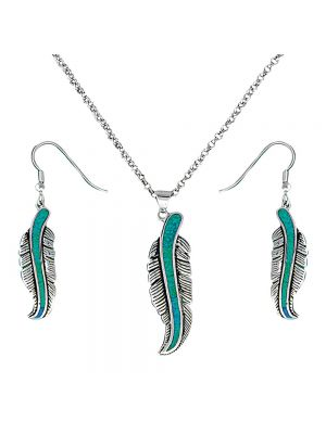 Montana Silversmiths The Storyteller Feather Jewelry Set JS1320