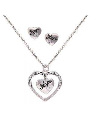 Montana Silversmiths A Cowgirl's Heart of Hope Jewelry Set JS1477