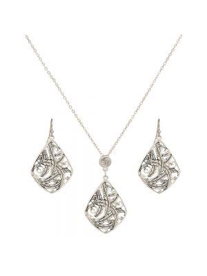 Montana Silversmiths Wind Dancer Feathers Jewelry Set JS2328RTS