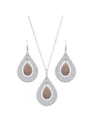 Montana Silversmiths Flowers Champagne Spark Jewelry Set JS2709