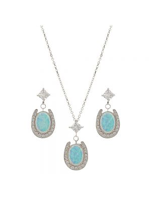 Montana Silversmiths River Lights Pond of Luck in the Evening Sky Jewelry Set JS2752