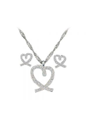 Montana Silversmiths A Caring Heart in Clear Rhinestones Jewelry Set JS744