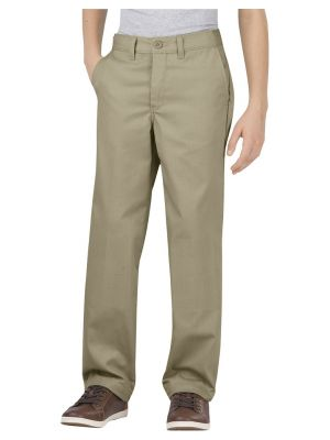 Dickies Boys Flex Classic Fit Straight Leg Ultimate Khaki Pant KP0700