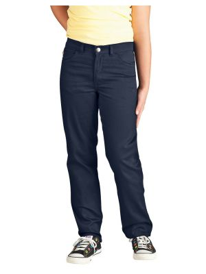 Dickies Girls' Skinny Fit Straight Leg 5-Pocket Stretch Twill Pant KP360