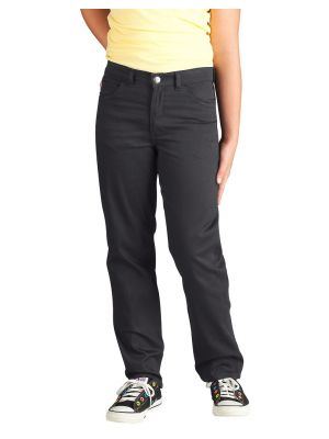 Dickies Girls' Skinny Fit Straight Leg 5-Pocket Stretch Twill Pant KP560