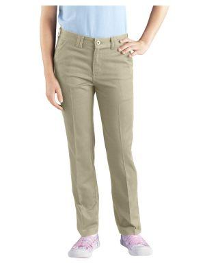 Dickies Girls' Skinny Fit Straight Leg Stretch Twill Pant, 7-20 KP801