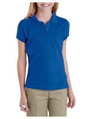 Dickies Girls' Short Sleeve Pique Polo, 7-20 KS952