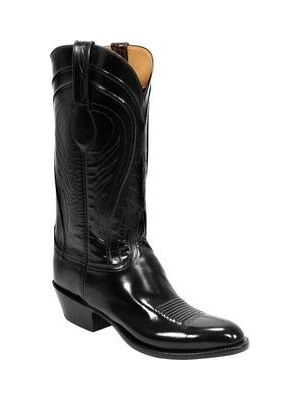 Lucchese Classic Black Goat Cowboy Boot L1508