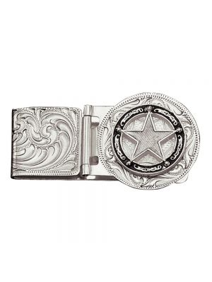 Montana Silversmiths Star Concho Hinged Money Clip MCL810