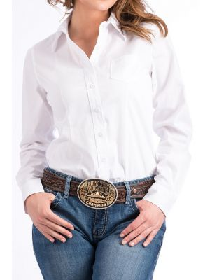 Cinch WOMENS SOLID WHITE BUTTON-DOWN WESTERN SHIRT MSW9164026