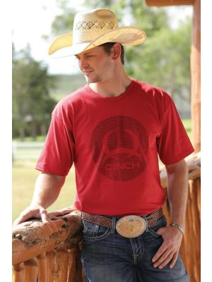 Cinch MENS RED COTTON JERSEY TEE MTT1690245