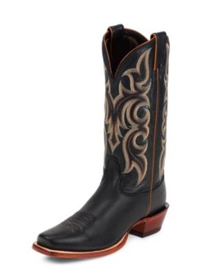 NOCONA MEN'S BLACK LEGACY CALF SKIN WESTERN BOOTS MD2703