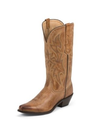 NOCONA WOMEN'S TAN DEERTANNED COW COWGIRL POSH™ WESTERN BOOTS NL1600
