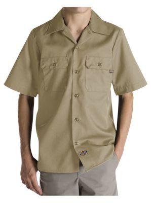 Dickies Boys Twill Short Sleeve Shirt QS201