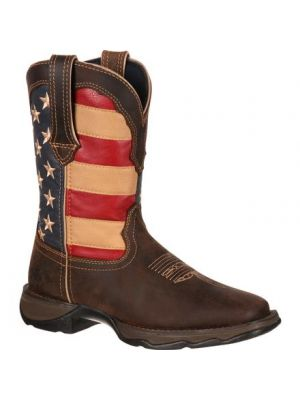 Durango Lady Rebel by Durango Patriotic Pull-On Western Flag Boot RD4414