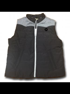 Hooey Roughy Cowtown Zip Puffer Vest RV012BKGY