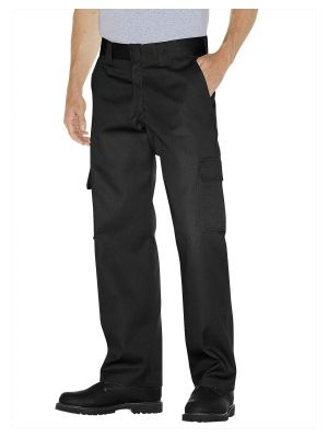 Dickies Relaxed Fit Straight Leg Cargo Work Pant WP592 Black (BK)
