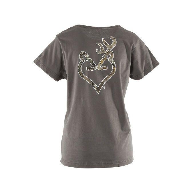 New Browning Realtree Xtra Buckheart Camo Women T-Shirt