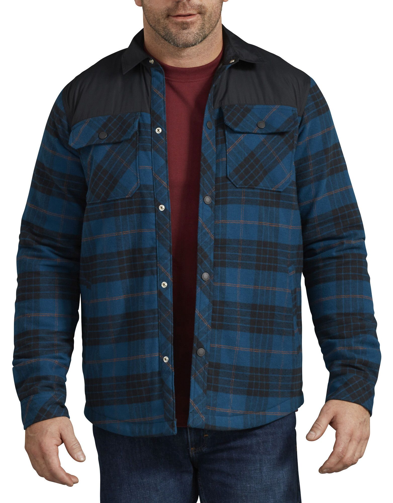 variety styles of 2019 united states exquisite style DICKIES MEN'S Flannel Shirt Jacket TJ249