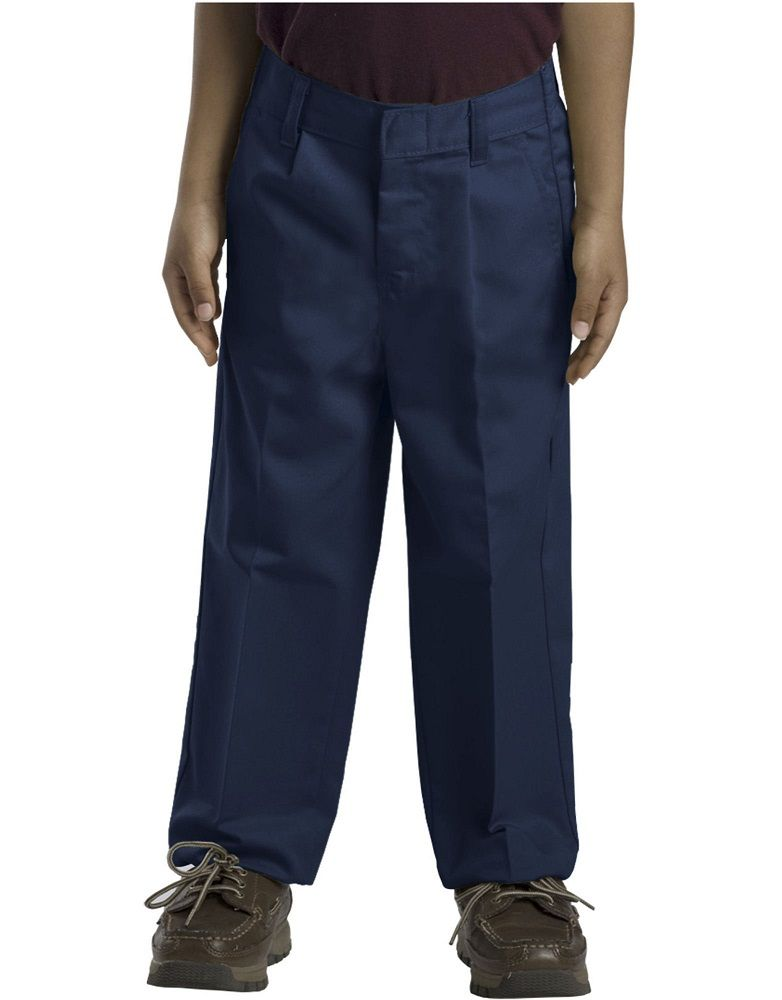 ca9cb31304 Dickies Boys' Classic Fit Straight Leg Pleated Front Pant, 8-20 Husky 58062