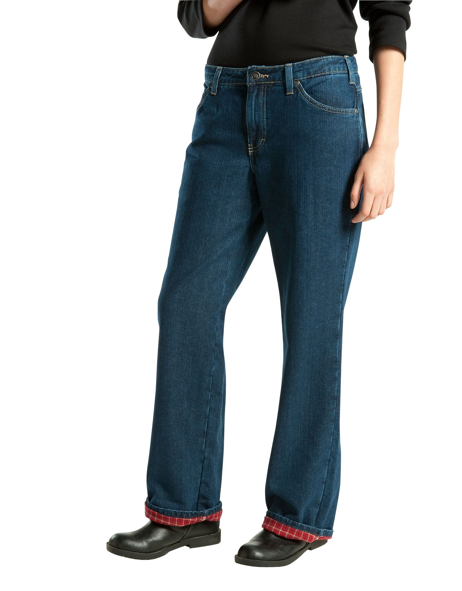 Dickies Women S Relaxed Fit Straight Leg Flannel Lined Denim Jean Fd117 Free shipping on orders of $35+ and save 5% every day with your target redcard. dickies women s relaxed fit straight leg flannel lined denim jean fd117