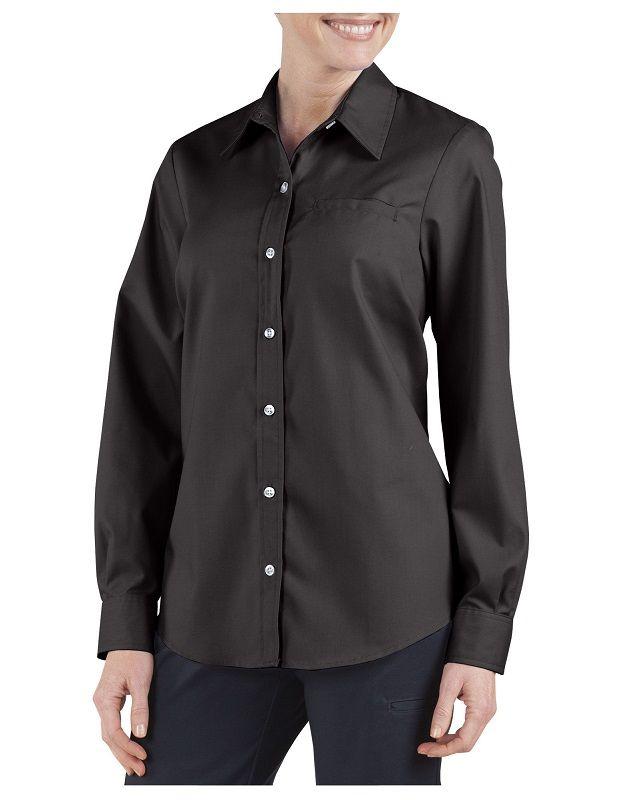 a5706fd7973266 Dickies Women's Long Sleeve Stretch Poplin Shirt FL036. Details
