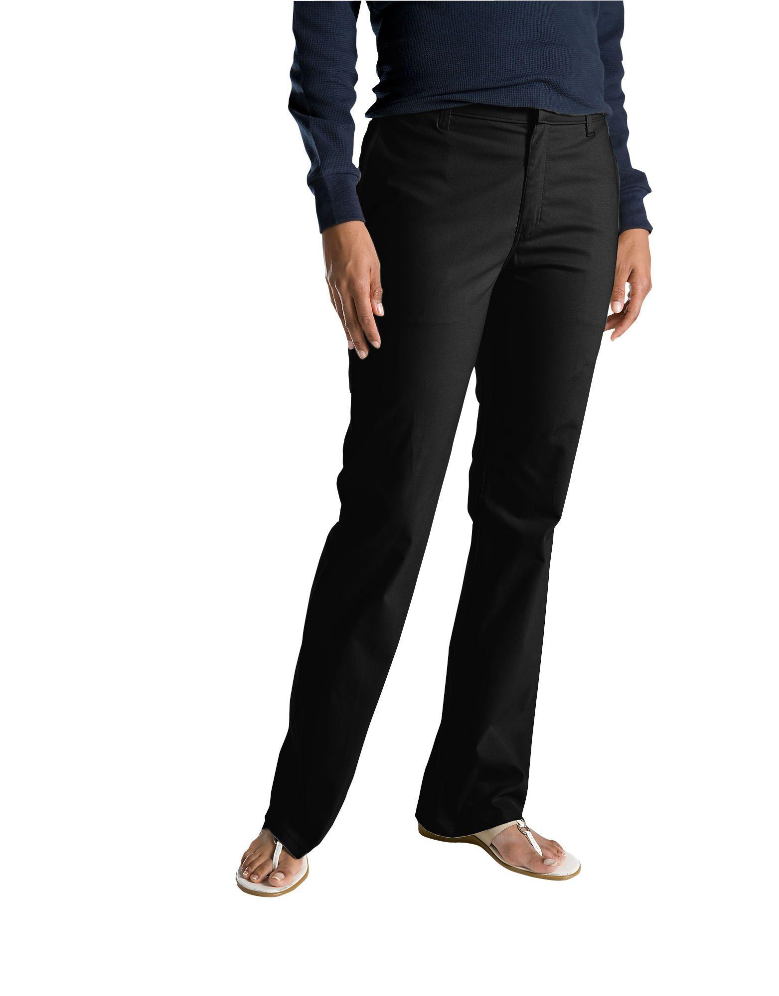ec65ff84308 Dickies Women s Slim Fit Boot Cut Stretch Twill Pant FP121 Black ...