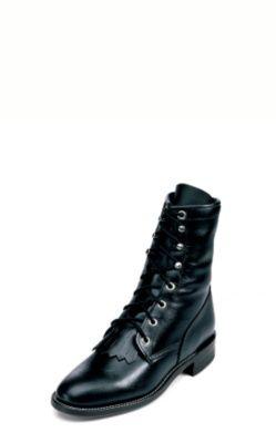 7c2f0df972e JUSTIN WOMEN'S BLACK ROPER BOOTS L0506
