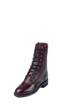 b400fdccdc4 JUSTIN WOMEN'S BLACK CHERRY CORONA ROPER BOOTS L0514