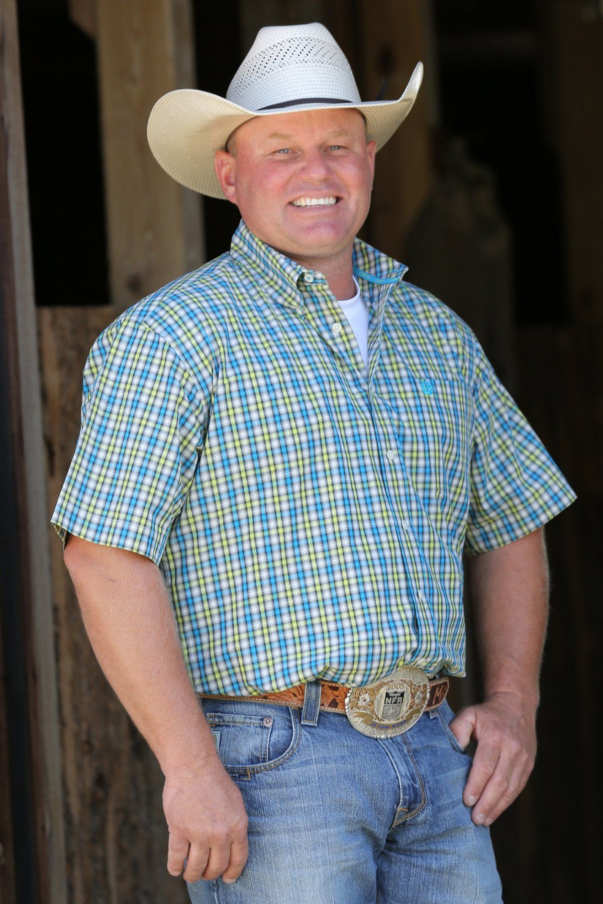 c9ef877c0 Cinch MENS SHORT SLEEVE WHITE AND LIME PLAID WESTERN ...