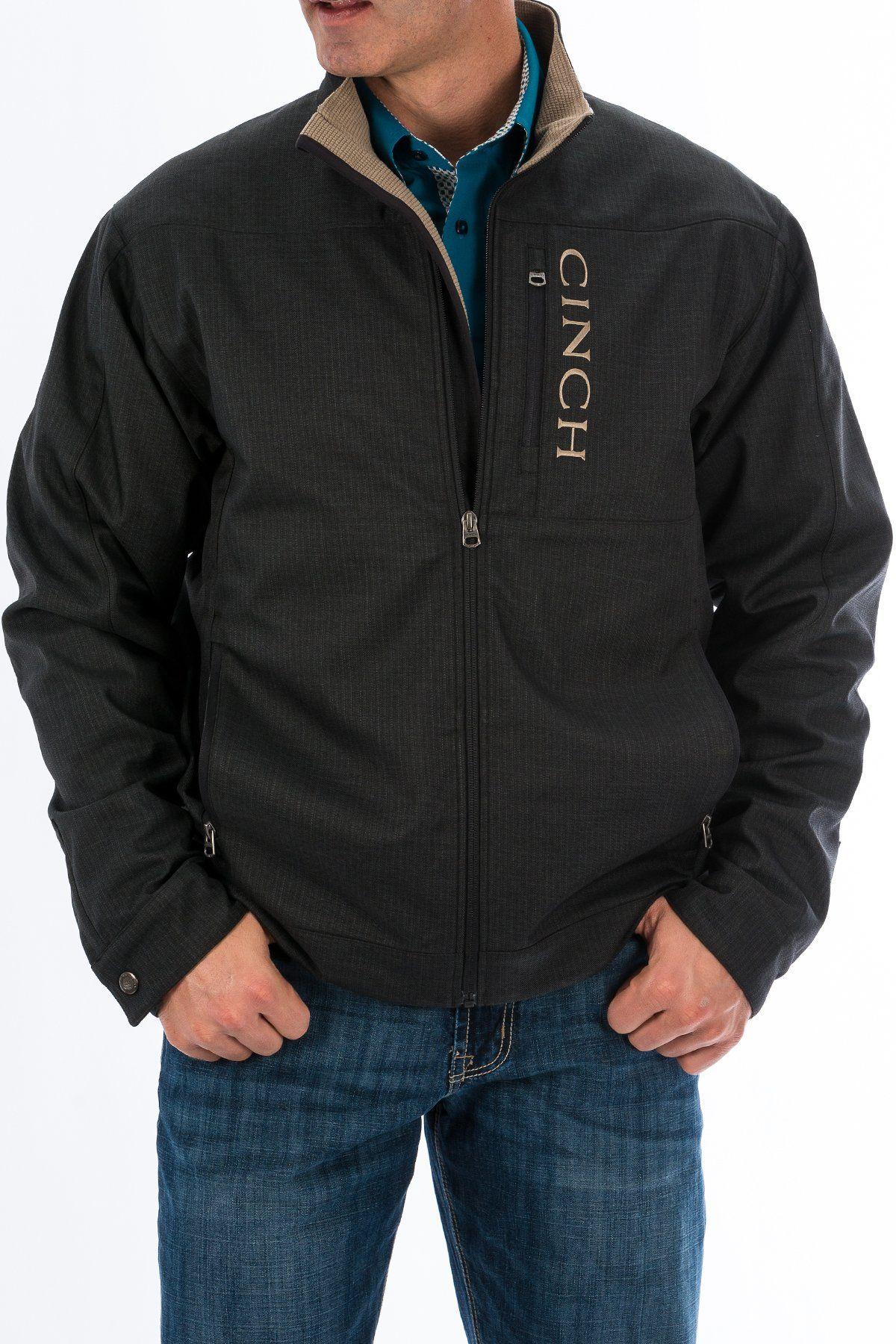 fb4221c9f315 Cinch Mens Bonded Textured Concealed Carry Jacket - Black MWJ1090001.  Details