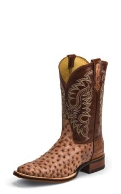 4ba2708babf NOCONA MEN'S BRANDY TUMBLED FULL QUILL OSTRICH LET'S RODEO® COLLECTION  COWBOY BOOTS MD6516