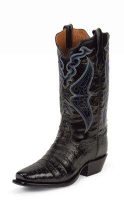 cc9628e103d TONY LAMA MEN'S BLACK SIGNATURE SERIES™ CAIMAN BELLY WESTERN BOOTS 1014
