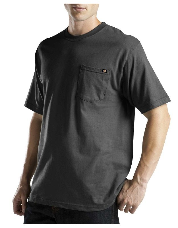 6b6b1a1ae66 Dickies Mens Short Sleeve Pocket Tee with Wicking WS417