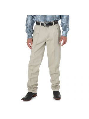 Wrangler Riata® Pleated Front Relaxed Fit Casuals 00095KH Front