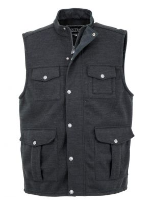 Outback Trading Company Men's Reid Softshell Vest 29709-BLK-SM