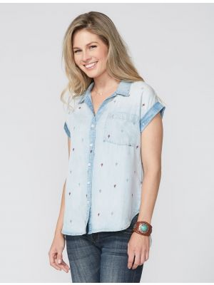 Stetson EMBROIDERED CACTUS BLOUSE 11-051-0592-2026