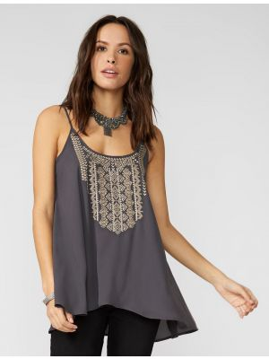 Stetson EMBROIDERED CREPE HI-LOW CAMI 11-052-0565-0775