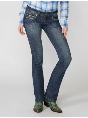 Stetson 818 Fit Medium Wash Jeans With Decorative Back Pocket Stitching 11-054-0818-0361