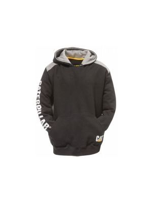 Cat Men's Logo Panel Hooded Sweatshirt 1026