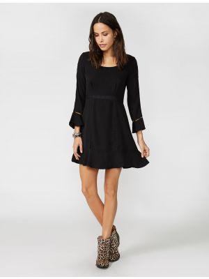 Stetson BLACK CREPE LACE INSET DRESS 11-057-0592-1023