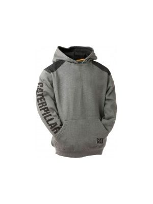 Cat Men's Logo Panel Hooded Sweatshirt 1133