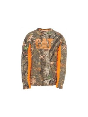 Cat Men's Logo Camo L/S Tee 5389
