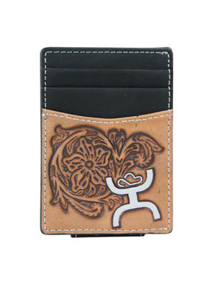 Hooey Wallet Signature Tooled Bone Money Clip 1623462MN