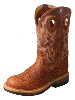 Twisted X Men's Lite Cowboy Elephant Print Western Work Boots 2000276918