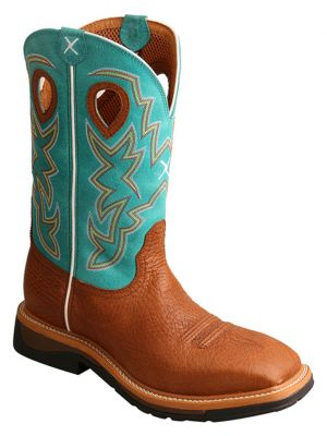 Twisted X Men's Cognac Lightweight Work Boots 2000214660