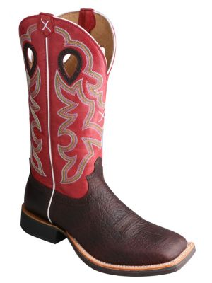 Twisted X Ruff Stock Cowboy Boots - Square Toe 036S89
