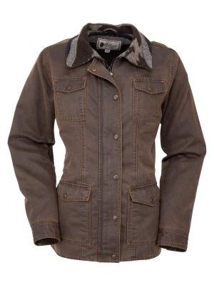Outback Trading Company Women's Broken Hill Jacket 29666-BRN-2X