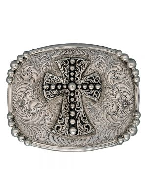 Montana Silversmiths Antiqued Western Deco Cross Belt Buckle 23510RTS