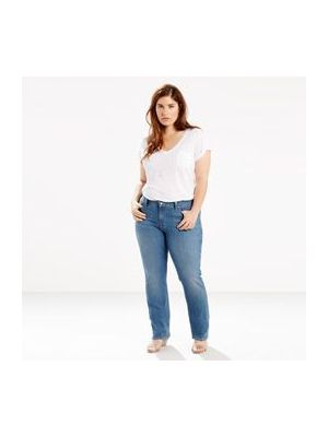 Levi's Women's 414 RELAXED STRAIGHT JEANS (PLUS) 236480004 Front